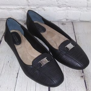 GIANNI BINI BLACK MEMORY FOAM LOAFERS
